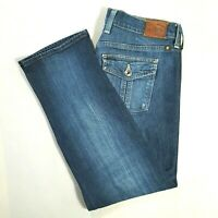 LUCKY BRAND Womens SWEET N STRAIGHT Cropped Capri Jeans Medium Wash Size 6