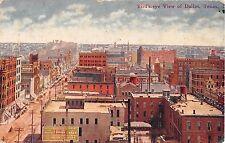 1911 BEV Business District Street Scene Dallas TX post card