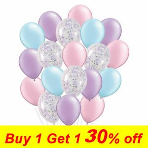 20PCS Unicorn Latex Confetti Balloons Wedding Birthday Party Helium Air Purple