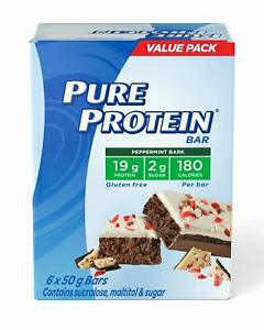 Pure Protein Bars, Gluten Free, Peppermint Bark, 50g, 6ct,{Imported from Canada}
