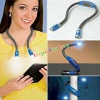 Luz flexible del LED sobre la lámpara de lectura del libro del cuello