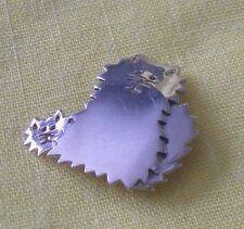 Mexico Sterling Silver cute Kitty Cat & Kitten brooch pin ©Su 925 fluffy