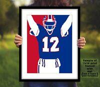 JIM KELLY Buffalo Bills Photo Art in 8x10 or 11x14 - Football Picture Print