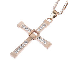 Dom Toretto Gold Cross Necklace Fast And The Furious Dominic Vin Diesel Costume