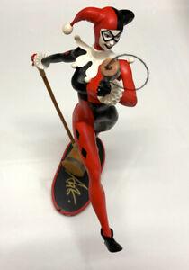 Stanley Artgerm Lau SIGNED DC Comics Batman Cover Girls Art Statue Harley Quinn