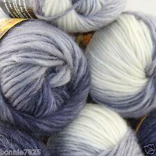 NEW Lot of 6 x50g balls Chunky Hand Coarse Knitting Rainbows Wool Quick Yarn 804