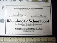 Lehrmittelinstitut Wilhelmshavener KM Räumboot & Schnellboot (3 Models) 1960s