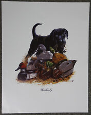 Weatherby Black Labrador Retriever Phillip Crowe Hunting Dog Art Poster Print
