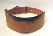 Thick Vintage Weider Leather Weight Lifting Back Belt size 39-43 strength safety