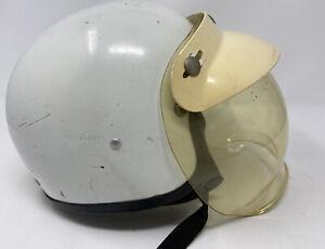 Vintage 1970's Vintage Japan Helmet White / Very Rare Size XL Bubble Visor