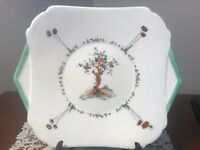 Shelley Art Deco Tab Plate 'Crabtree' 12095 22 Cms Wide