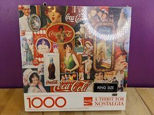 COCA-COLA A THIRST FOR NOSTALGIA Springbok 1000 piece Jigsaw Puzzle NEW, SEALED