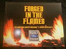 2009 Ford Harley Super Duty Brochure Promo Card Fold Out Forged In Flames RARE