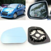 For Suzuki Alto 2006-2016 Side View Door Mirror Blue Glass With Base Heated