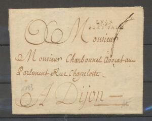 1783 Lettre LYON/PORT-PAIE, RHONE Signée Baudot X4050