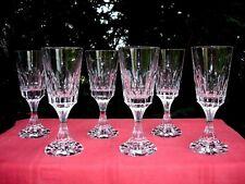 BACCARAT D'ASSAS ASSAS 6 WINE GLASSES WEINGLÄSER 6 VERRES A VIN CRISTAL TAILLÉ