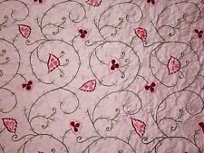 Pink Faux Silk Flower Embroidery Fabric By Yard Decoritive Pillows Drapery