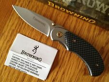 Browning SG CARBON FIBER FOLDER FRAMELOCK Folding Knife RUSS KOMMER DESIGN New