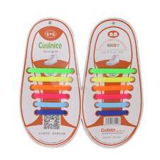 12pc para niños de silicona Entrenadores las zapatillas de deporte cordones