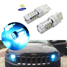 Ice Blue 10K LED Light Bulbs For Dodge Jeep Ford Daytime DRL/Turn Signal Lights