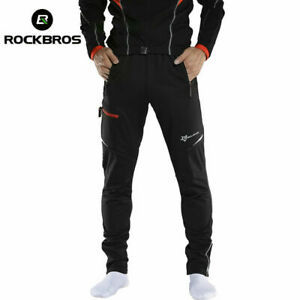 ROCKBROS Men's Thermal Fleece Pants Winter Cycling Sportswear Reflective Trouser
