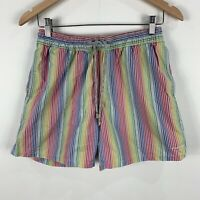 Industrie Mens Shorts Small Multicoloured Elastic Waist Drawstring Pockets
