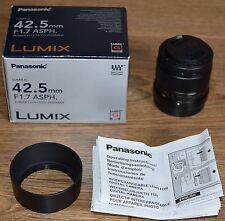 Panasonic Lumix 42.5 mm F1.7 MFT Lens (boxed)