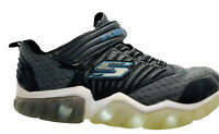 Skechers Light Up Velro S-lights Boys Size 13Y  Sneakers Shoes Black Blue