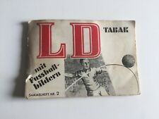 Dobbelmann Deutsche Länderspiele Sammelheft Nr 2 Fussball LD 1950er Sammelbilder