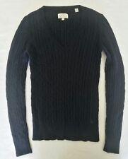 Jacks Wills 100% Extra Fine Merino wool navy v-neck jumper SIZE 8