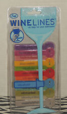 Wine Lines I.D. Tags for Your Stemware Wine Glass Fun Labels Personal Tags Fred