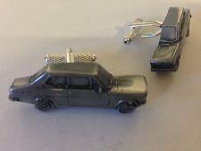 Datsun 1200 2 Puertas Saloon 3d clásico coche vehículo Peltre efecto Gemelos ref57