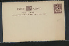 Gold  Cosat   1d  postal  card  unused  thick card           KL0517