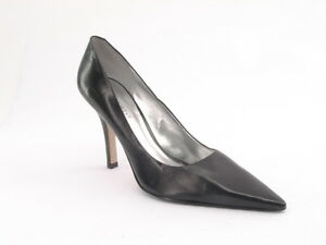 New NINE WEST Women Leather Blk Classic High Heel Pointy Toe Pump Shoe Sz 8.5 M