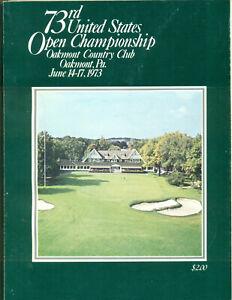 1973 U.S. Open Golf Program Oakmont Country Club Johnny Miller