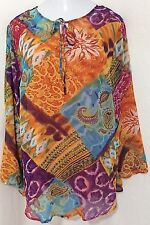Maggie Barnes Sheer Tunic & Camisole Womens Plus Size 1X 18/20