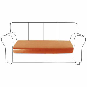 1-4 Seat Faux Leather Sofa Cushion Cover Waterproof Couch Protective Slipcover