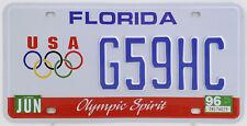 Plaque d'immatriculation américaine FLORIDA Olympic Spirit