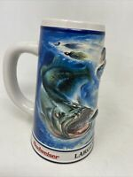 Vintage 1996 Budweiser Anglers Edition Largemouth Bass Fishing Stein