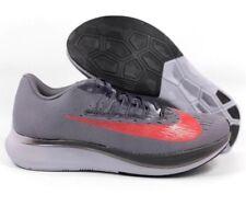Men Nike Zoom Fly Running Shoes 880848-004 Gunsmoke Gray Crimson SZ 12 NEW