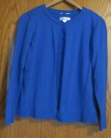 Christopher & Banks Women's Medium royal blue sweater set cardigan and vest 2pcs