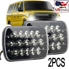 Pair Black 5x7 7x6 LED Headlight Hi/Lo Beam for Ford E-150 E-250 E-350 Econoline