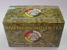 Green Tea Stevia  tea bags by American IndianTea  Zero carbs