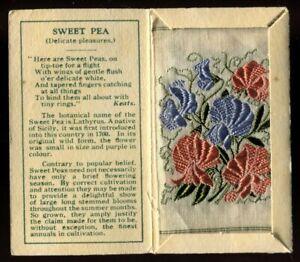 Kensitas Woven Silk Flowers,1934,Small,1st Series,Folder Type C,SWEET PEA 1,#54