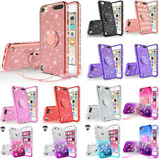 For Apple iPod Touch 6 Cute Ring Stand Glitter Bling Phone Case w/Kickstand