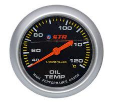 STR Oil Temperature Mechanical Gauge Liquid Filled High Performance 66mm Cheap