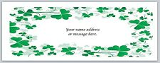 30 Personalized Return Address Labels Clover Buy 3 get 1 free (bo 619)