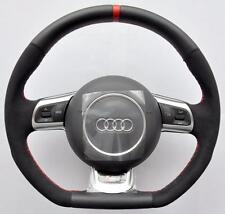 AUDI S Line ALCANTARA A3 A4 A5 A6 A8 TT RS Q5 Q7 R8 Flat Bottom steering wheel
