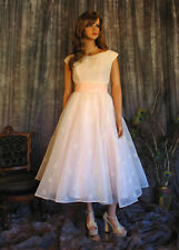 Vintage 1950's Floral Flocked Chiffon Gown Fit and Flare Prom Cocktail Dress