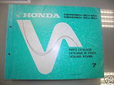 BB 13MC9C87 Catalogo Parti di Ricambio HONDA CB450 SC edizione 1986